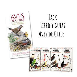 Pack Libro y Guias Aves de Chile