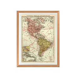 Mapa político América pineable
