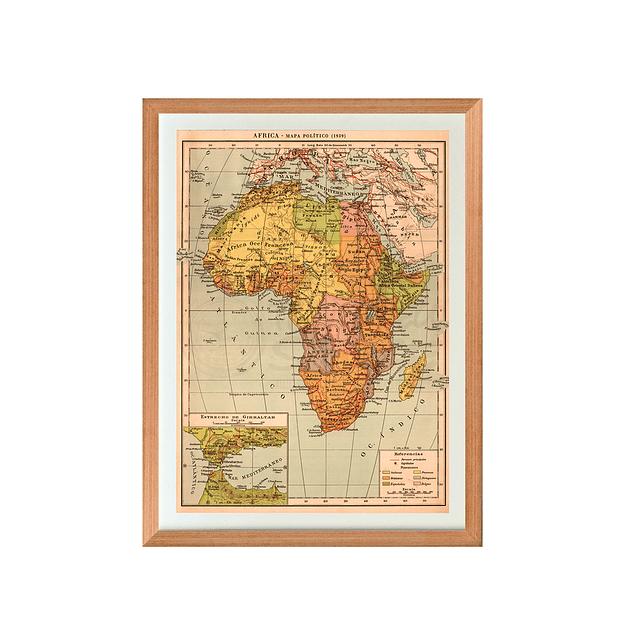 Mapa político Africa pineable