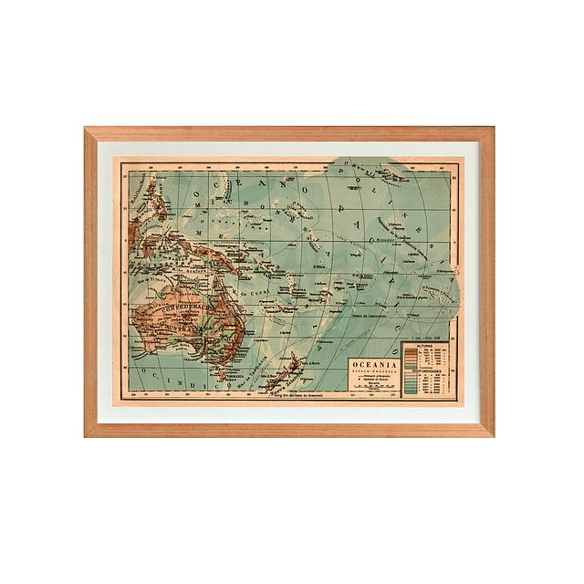Mapa político Oceanía pineable