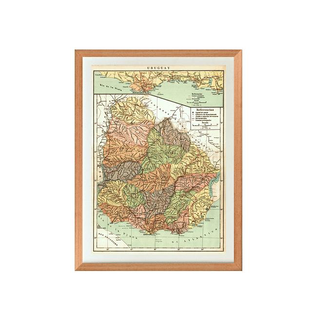 Mapa político Uruguay pineable