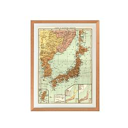 Mapa político Japón pineable