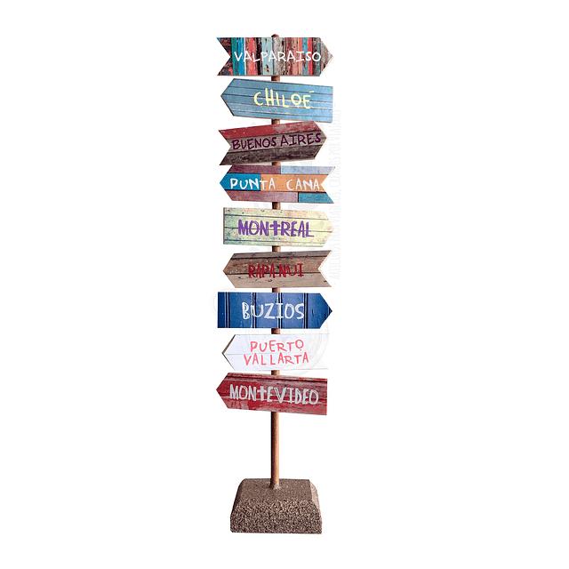 Totem viajero personalizado 9 banderas
