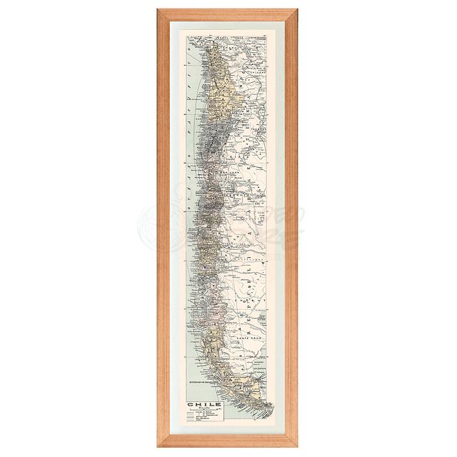 Mapa general de Chile pineable XL comienzos siglo XX