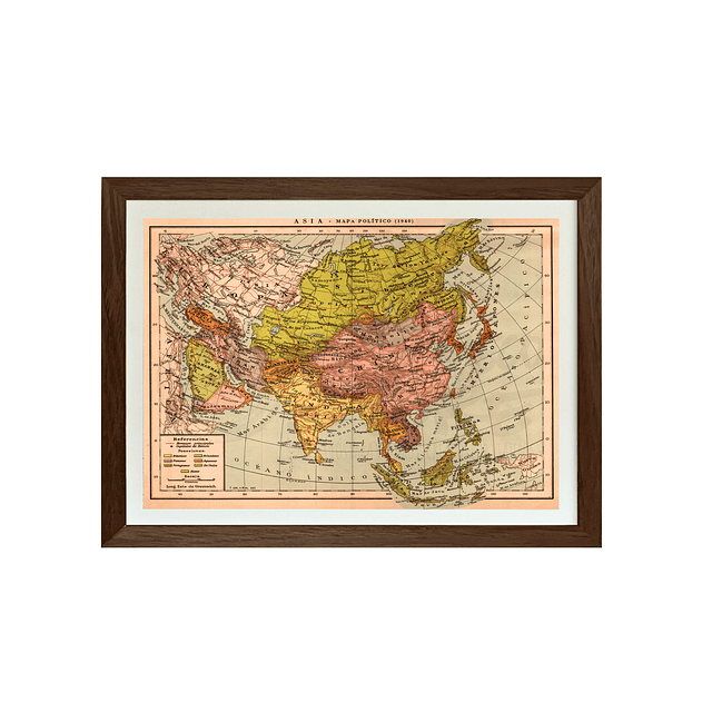 Mapa político Asia pineable