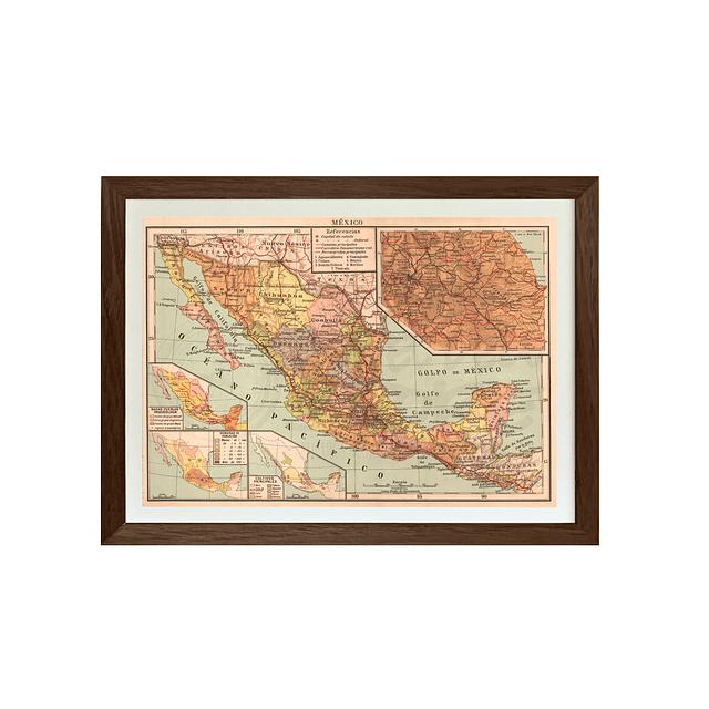 Mapa político México pineable
