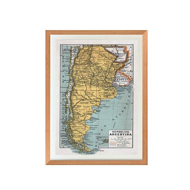 Mapa pineable Argentina fines siglo XIX