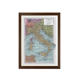 Mapa pineable Italia fines siglo XIX