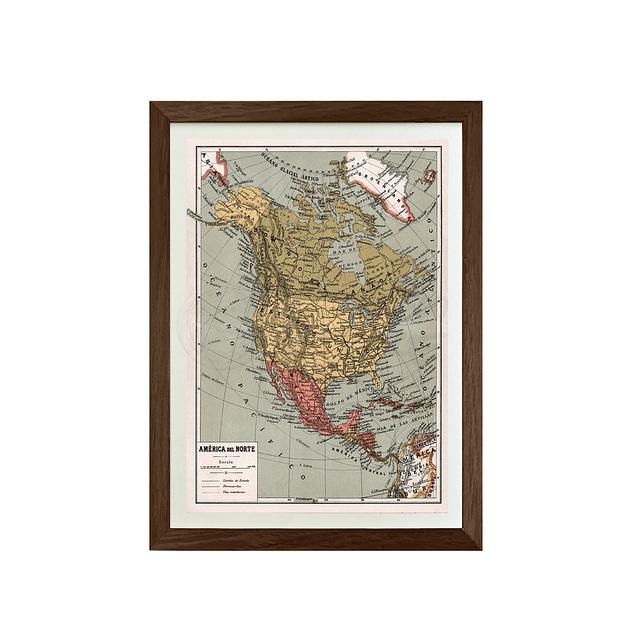 Mapa pineable America del norte fines siglo XIX