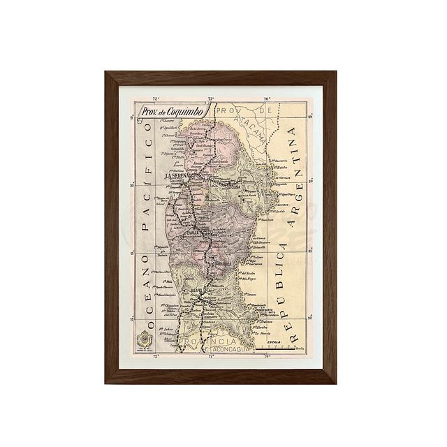 Mapa pineable antigua provincia de Coquimbo