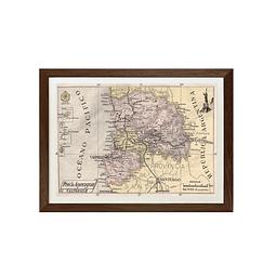 Mapa pineable antigua provincia de Aconcagua y Valparaiso