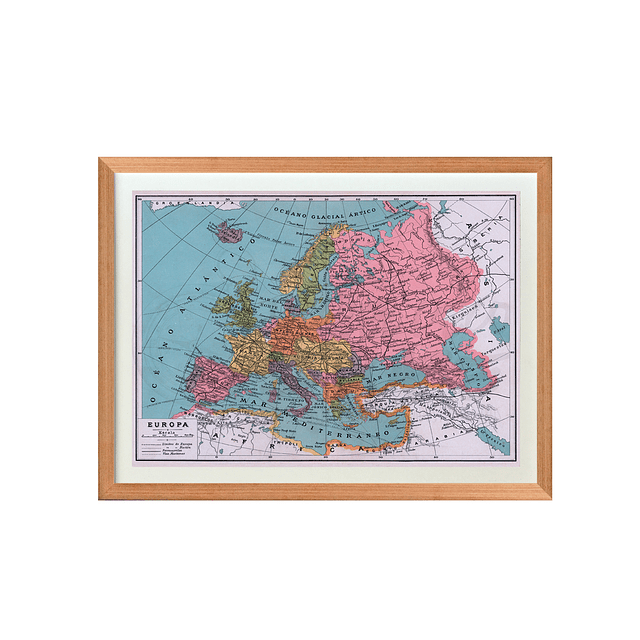 Mapa pineable Europa fines siglo XIX