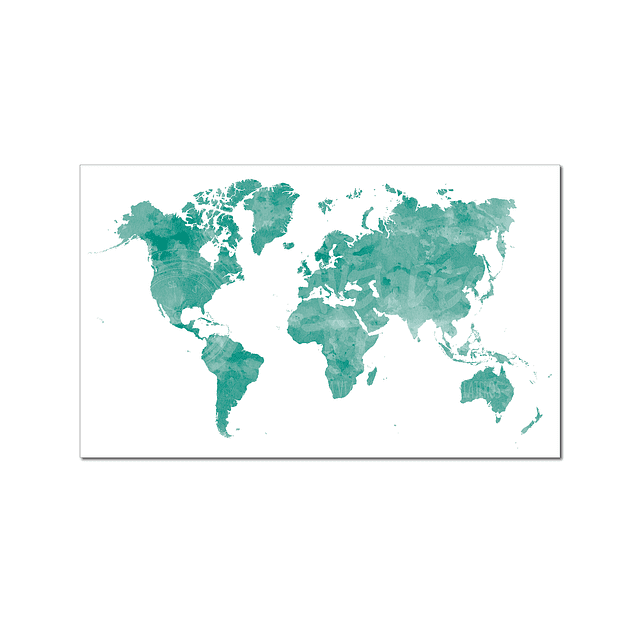 Mapa Mundi acuarela ilustrado 40x30 cms