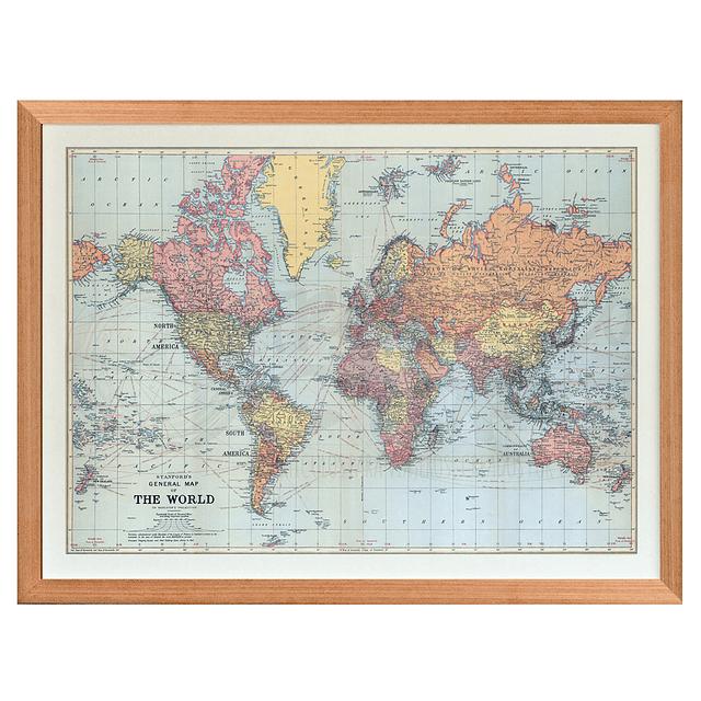 Mapa mundi contemporaneo XL pineable marco Mañio
