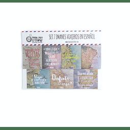 Set de imanes en español