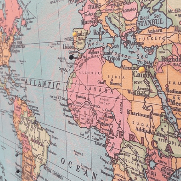 Mapa mundi pineable XL 90x55 cms