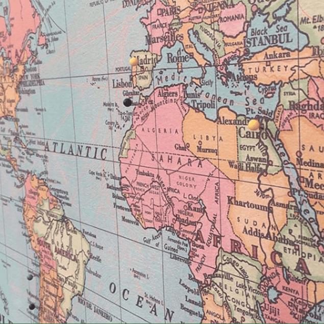 Mapa mundi pineable XL
