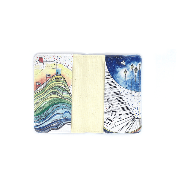 Porta pasaporte telas ilustradas Chilenas con SBradanovic: Valparaiso