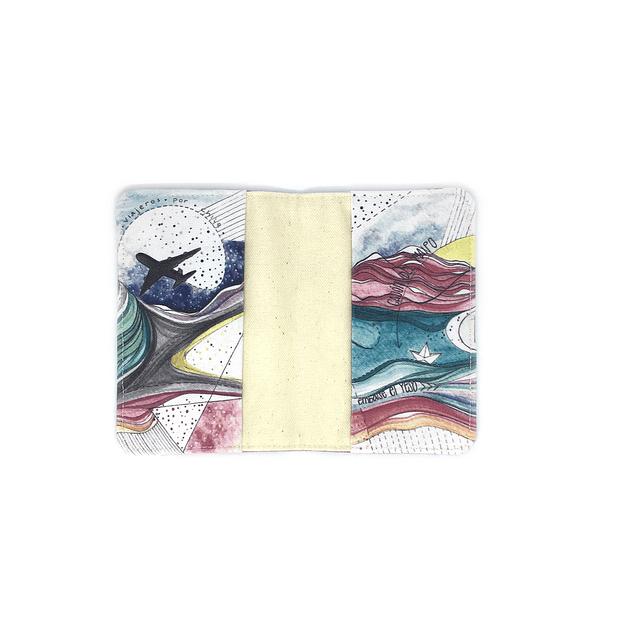Porta pasaporte telas ilustradas Chilenas con SBradanovic: Santiago de Chile