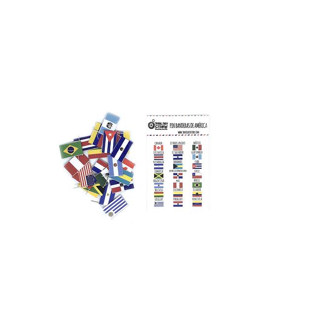 Set banderas pineable de America