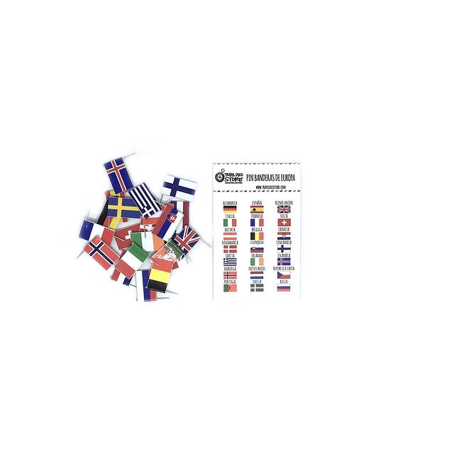 Set banderas pineables de Europa