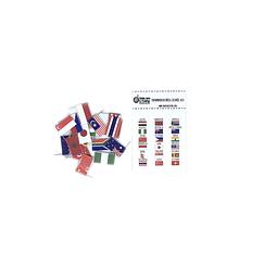Set de banderas pineables de Africa, Oceania , Asia