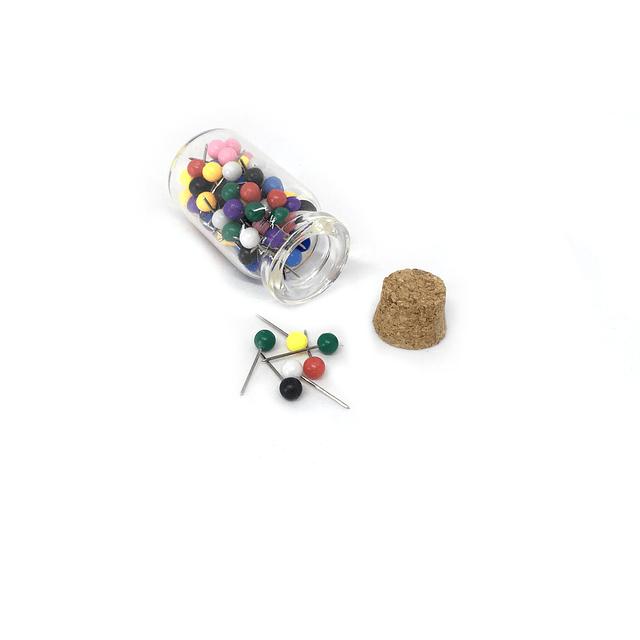 Reposición 100 pin para mapas pineables: variedad colores