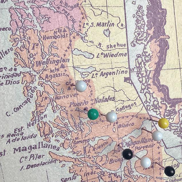 Mini mapa general de Chile pineable