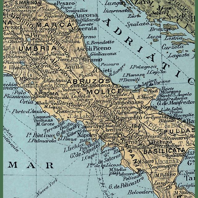 Mapa pineable Italia fines siglo XIX