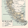 Mapa general de Chile pineable XL comienzos siglo XX