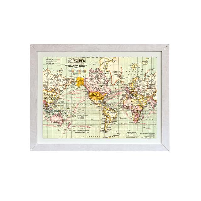 Mapa mundi rutas marítimas de viajes pineable