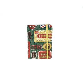 Porta pasaporte tela