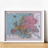 Print para enmarcar: mapa político Europa fines siglo XIX 25x20 cms