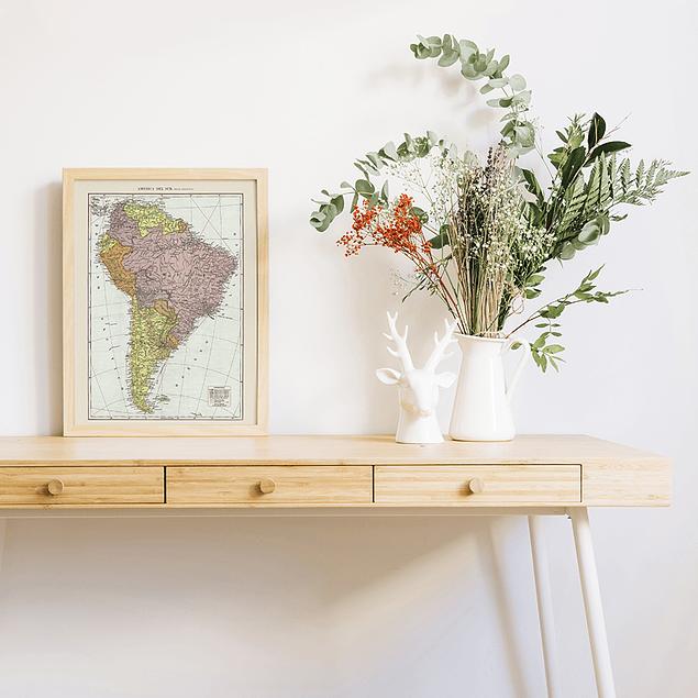 Print para enmarcar 30x40 cms: mapa político América del Sur