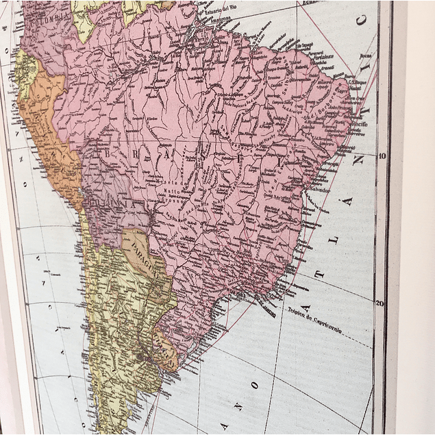 Mapa político América del Sur pineable marco Mañio