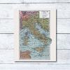 Print para enmarcar: mapa político Italia de fines del siglo XIX