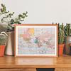 Mapa mundi 1910 pineable marco Mañio
