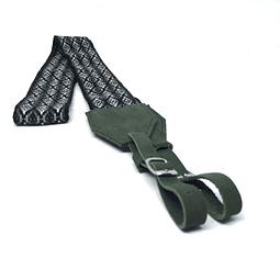 Cinta para camaras tejida cuero verde