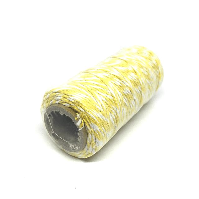 Hilo Baker Twine amarillo/blanco para decorar mapas pineales