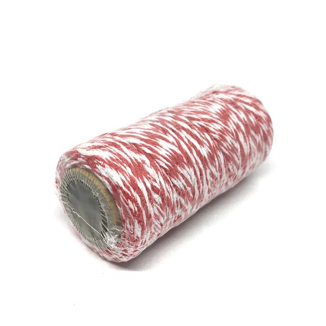 Hilo Baker Twine rojo/blanco para decorar mapas pineales