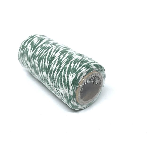 Hilo Baker Twine verde/blanco para decorar mapas pineales