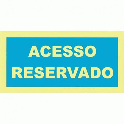 Sinal PVC Opaco 200x100 ( Reservado)