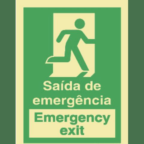 (Blister 1un)-Sin PVC Fot 200x100 (Saída Emergência)-PT