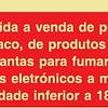 Sinal PVC Opaco 150x200 (Proib.Venda Tabaco)