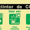 Sinal PVC Fotol IN1452 235x85 (Extintor CO2)