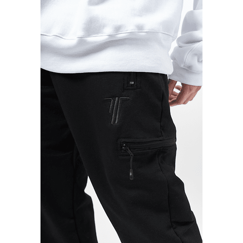 """Pantalón de buzo """"Treino Inc"""" negro"""