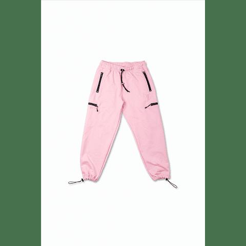 """Pantalón de buzo """"Treino Inc"""" rosado"""