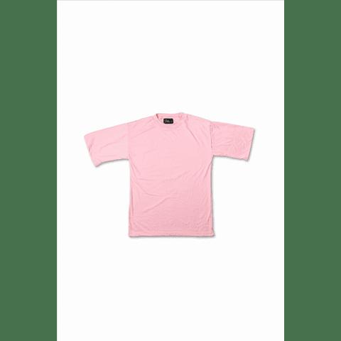"Polera oversize ""Treino Inc"" rosado"