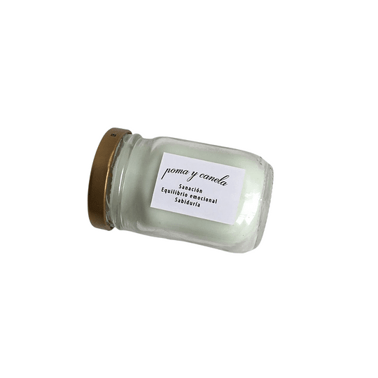 Vela Artesanal Poma y Canela 105 ml - Image 2