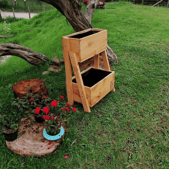 Jardinera Doble 8 plántulas - Image 1